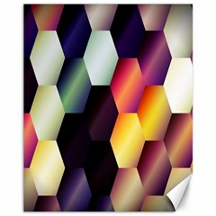 Colorful Hexagon Pattern Canvas 11  x 14