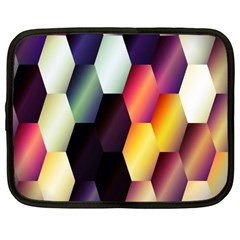 Colorful Hexagon Pattern Netbook Case (Large)