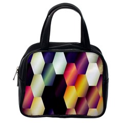 Colorful Hexagon Pattern Classic Handbags (one Side)