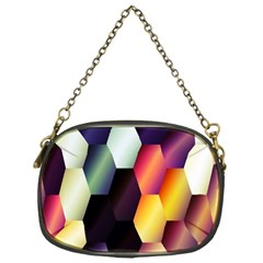 Colorful Hexagon Pattern Chain Purses (one Side)