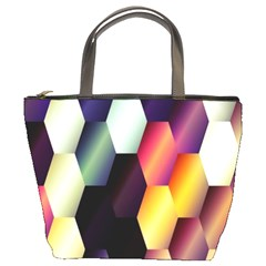 Colorful Hexagon Pattern Bucket Bags