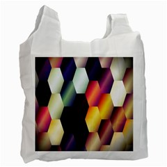 Colorful Hexagon Pattern Recycle Bag (one Side)