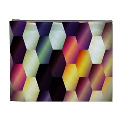 Colorful Hexagon Pattern Cosmetic Bag (xl)