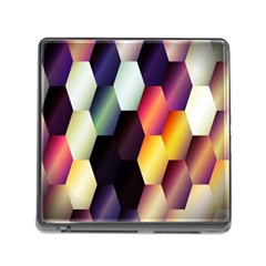 Colorful Hexagon Pattern Memory Card Reader (Square)