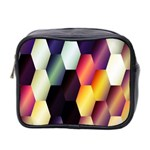 Colorful Hexagon Pattern Mini Toiletries Bag 2-Side Front