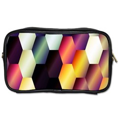 Colorful Hexagon Pattern Toiletries Bags 2-Side