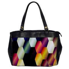 Colorful Hexagon Pattern Office Handbags