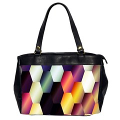 Colorful Hexagon Pattern Office Handbags (2 Sides)
