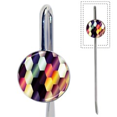 Colorful Hexagon Pattern Book Mark
