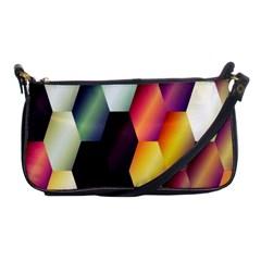 Colorful Hexagon Pattern Shoulder Clutch Bags