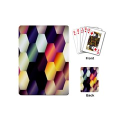Colorful Hexagon Pattern Playing Cards (Mini)