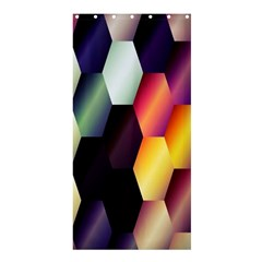Colorful Hexagon Pattern Shower Curtain 36  X 72  (stall)