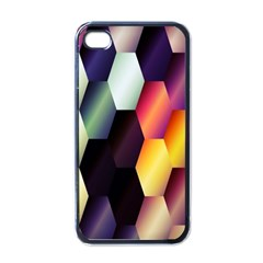 Colorful Hexagon Pattern Apple Iphone 4 Case (black)