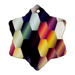 Colorful Hexagon Pattern Snowflake Ornament (two Sides)