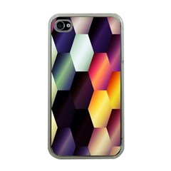 Colorful Hexagon Pattern Apple Iphone 4 Case (clear)