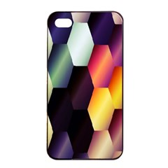 Colorful Hexagon Pattern Apple Iphone 4/4s Seamless Case (black)