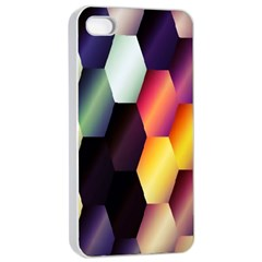 Colorful Hexagon Pattern Apple Iphone 4/4s Seamless Case (white)