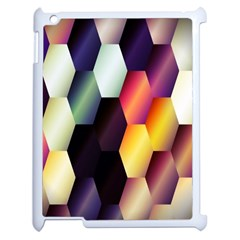 Colorful Hexagon Pattern Apple Ipad 2 Case (white)
