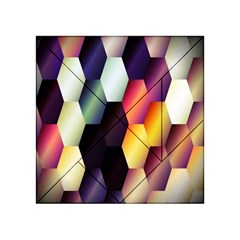 Colorful Hexagon Pattern Acrylic Tangram Puzzle (4  X 4 )