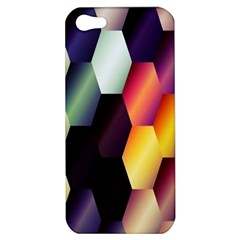 Colorful Hexagon Pattern Apple iPhone 5 Hardshell Case