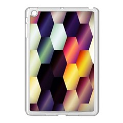 Colorful Hexagon Pattern Apple iPad Mini Case (White)