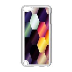Colorful Hexagon Pattern Apple iPod Touch 5 Case (White)