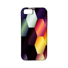 Colorful Hexagon Pattern Apple Iphone 5 Classic Hardshell Case (pc+silicone)