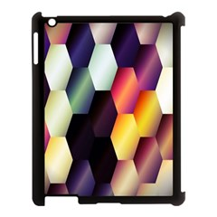 Colorful Hexagon Pattern Apple Ipad 3/4 Case (black)