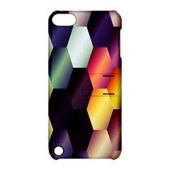 Colorful Hexagon Pattern Apple Ipod Touch 5 Hardshell Case With Stand