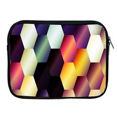 Colorful Hexagon Pattern Apple iPad 2/3/4 Zipper Cases