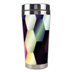 Colorful Hexagon Pattern Stainless Steel Travel Tumblers