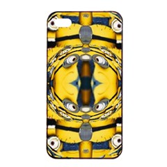 Minions FEEDBACK 3D EFFECT   Apple iPhone 4/4s Seamless Case (Black)