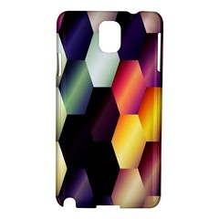 Colorful Hexagon Pattern Samsung Galaxy Note 3 N9005 Hardshell Case