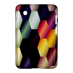Colorful Hexagon Pattern Samsung Galaxy Tab 2 (7 ) P3100 Hardshell Case