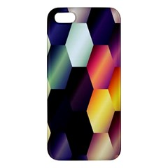 Colorful Hexagon Pattern Iphone 5s/ Se Premium Hardshell Case