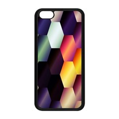 Colorful Hexagon Pattern Apple Iphone 5c Seamless Case (black)