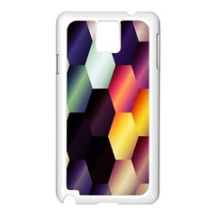 Colorful Hexagon Pattern Samsung Galaxy Note 3 N9005 Case (white)
