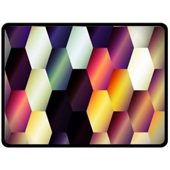 Colorful Hexagon Pattern Double Sided Fleece Blanket (Large)