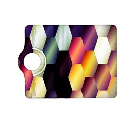 Colorful Hexagon Pattern Kindle Fire HD (2013) Flip 360 Case