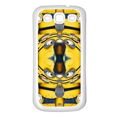 Minions FEEDBACK 3D EFFECT   Samsung Galaxy S3 Back Case (White)