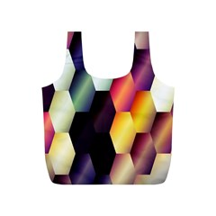 Colorful Hexagon Pattern Full Print Recycle Bags (S)