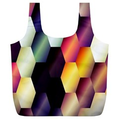 Colorful Hexagon Pattern Full Print Recycle Bags (l)