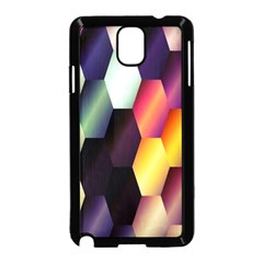 Colorful Hexagon Pattern Samsung Galaxy Note 3 Neo Hardshell Case (black)