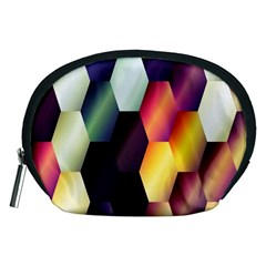 Colorful Hexagon Pattern Accessory Pouches (medium)