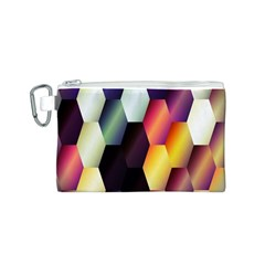 Colorful Hexagon Pattern Canvas Cosmetic Bag (S)