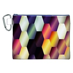 Colorful Hexagon Pattern Canvas Cosmetic Bag (xxl)