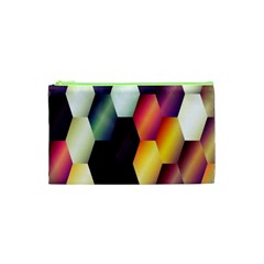 Colorful Hexagon Pattern Cosmetic Bag (XS)