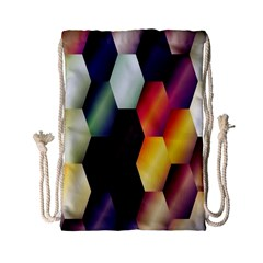 Colorful Hexagon Pattern Drawstring Bag (Small)