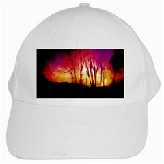 Fall Forest Background White Cap