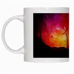 Fall Forest Background White Mugs